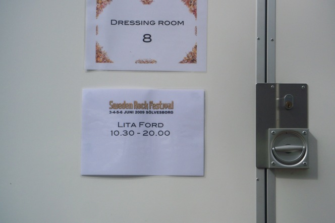 Sweden Rock Festival 2009 - Lita Ford's dressing room.