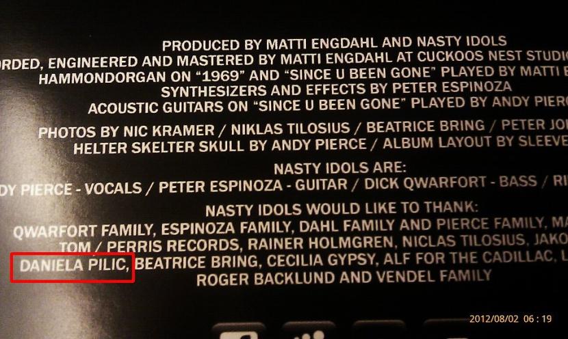 Nasty CD thanks list