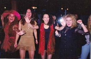 Iréne, Ginnie, Camilla and me partying somewhere, 1992. :)