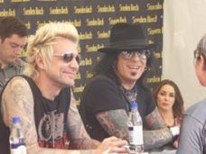 Sixx A.M signing session.