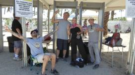 The Desert trippers that I hung out with every day, we were first to show up so we could secure our spots at the rail!