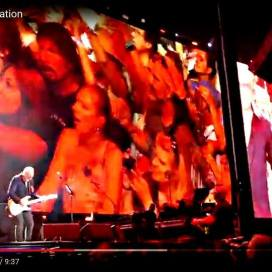 And there I am, on the screens, on the right, during The Who's show