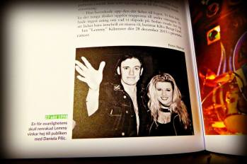 Lemmy and me in the book